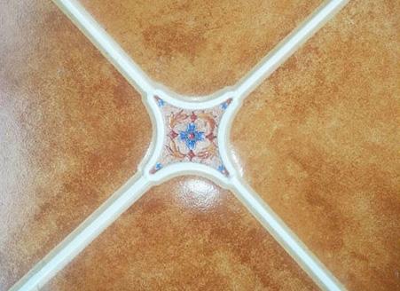 完工后的瓷砖美缝效果图